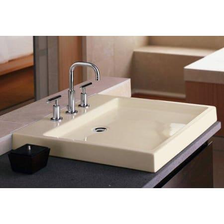 Kohler K 2314 8 0 White Purist 22 Quot Fireclay Vessel Sink Faucetdirect Com