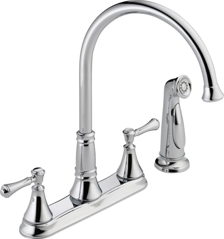 delta kitchen faucets warranty delta 2497lf chrome cassidy kitchen faucet with side spray 17203