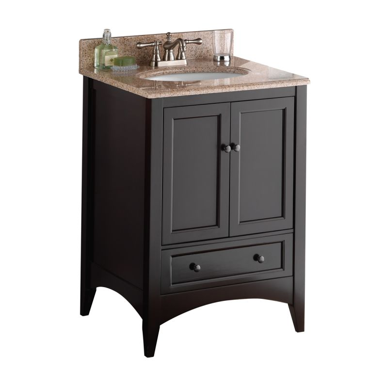 Foremost beca2421d espresso berkshire 24 wood vanity cabinet only - Foremost berkshire espresso bathroom wall cabinet ...