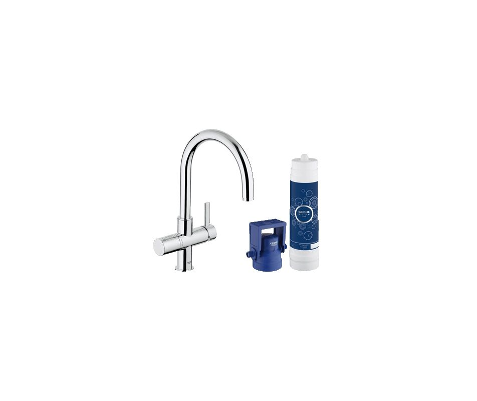 Grohe 31312001 StarLight Chrome GROHE Blue Filtered Water Dispenser FaucetD