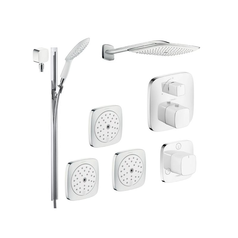hansgrohe chrome puravida shower faucet with thermostatic. Black Bedroom Furniture Sets. Home Design Ideas