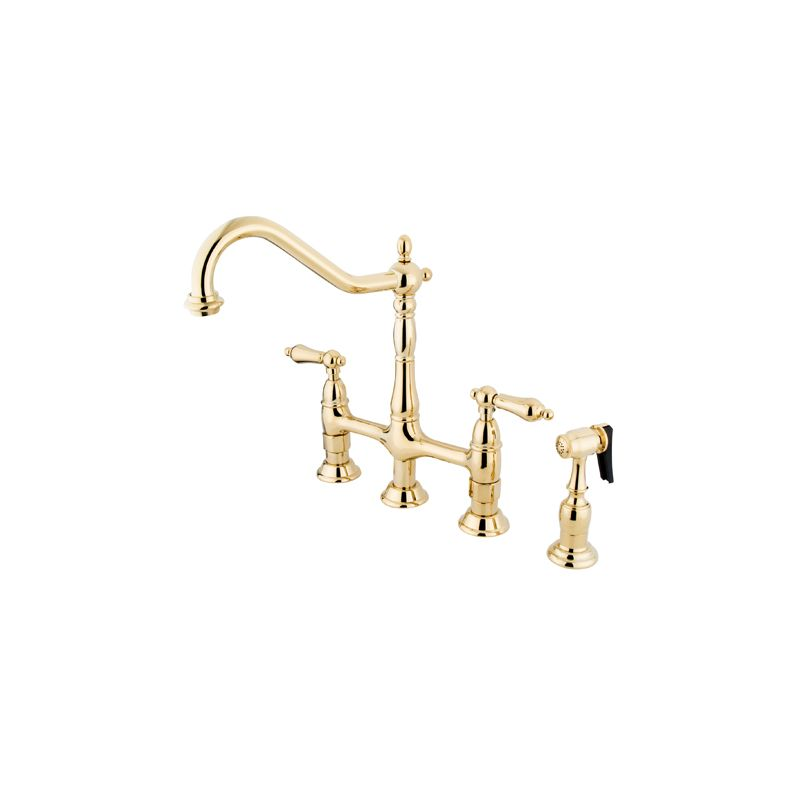 Kingston Brass KS1272ALBS Polished Brass Heritage Bridge