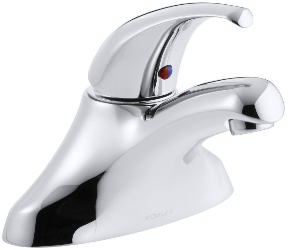 Kohler K 15199 P Cp Polished Chrome Coralais Centerset Bathroom Faucet Without Drain
