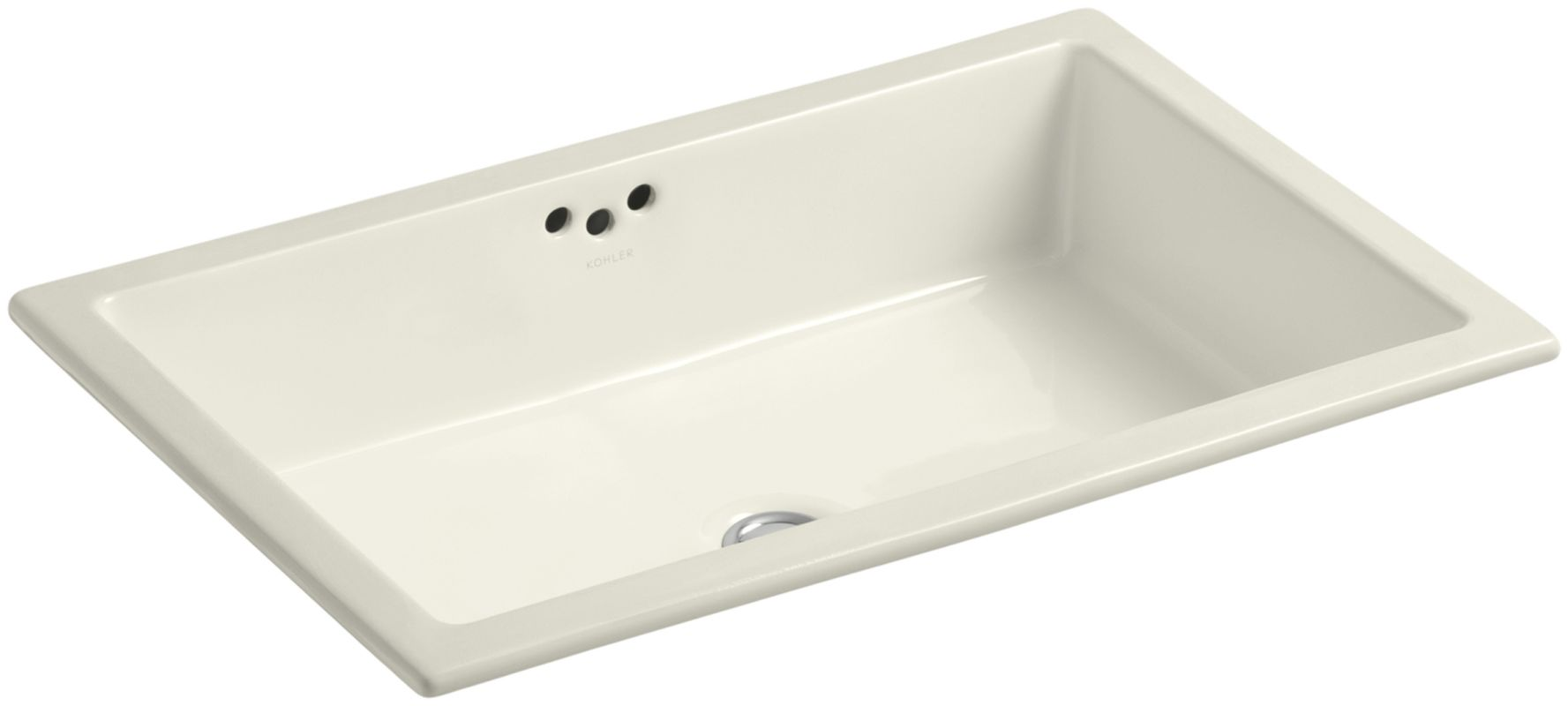 Kohler K 2297 G 96 Biscuit Kathryn 21 Undermount Bathroom Sink With Overflow