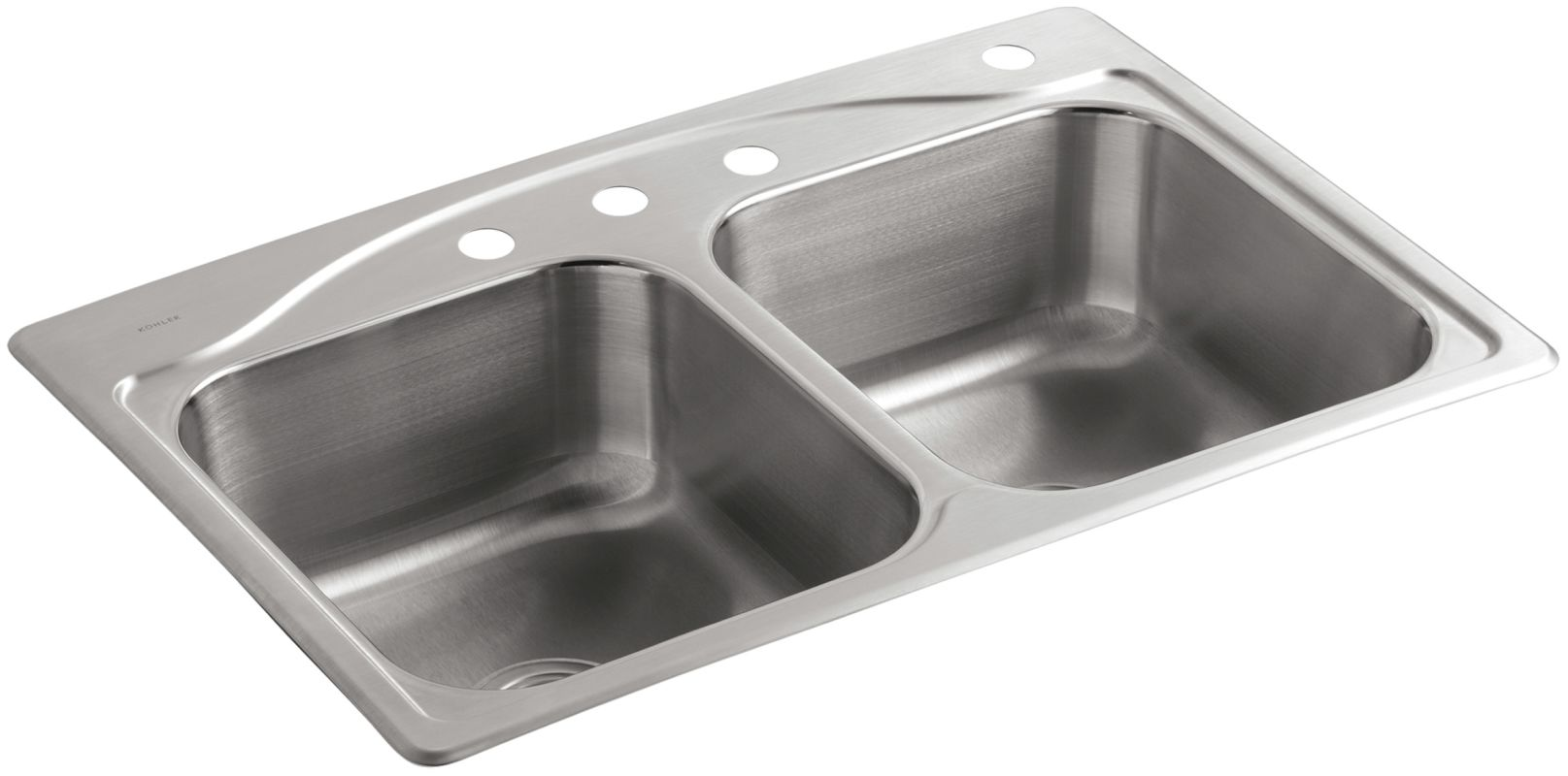 Kohler K 3145 4 Na Stainless Steel Cadence 33 Quot Double