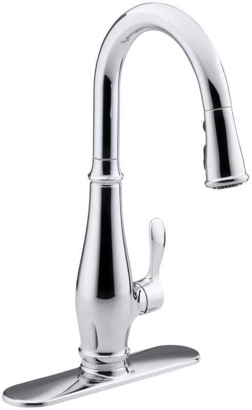 Kohler K 780 Cp Polished Chrome Cruette Single Hole Or Three Hole Kitchen Sink Faucet With Pull