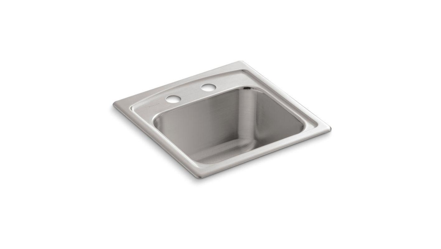 Kohler K-3349-2-NA Stainless Steel Single Basin Bar Sink