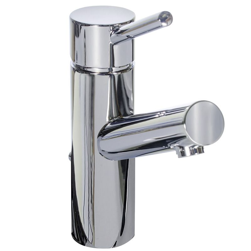 Miseno Ml102 Pc Polished Chrome Bracciano Single Hole Bathroom Faucet With Matching Pop Up Drain