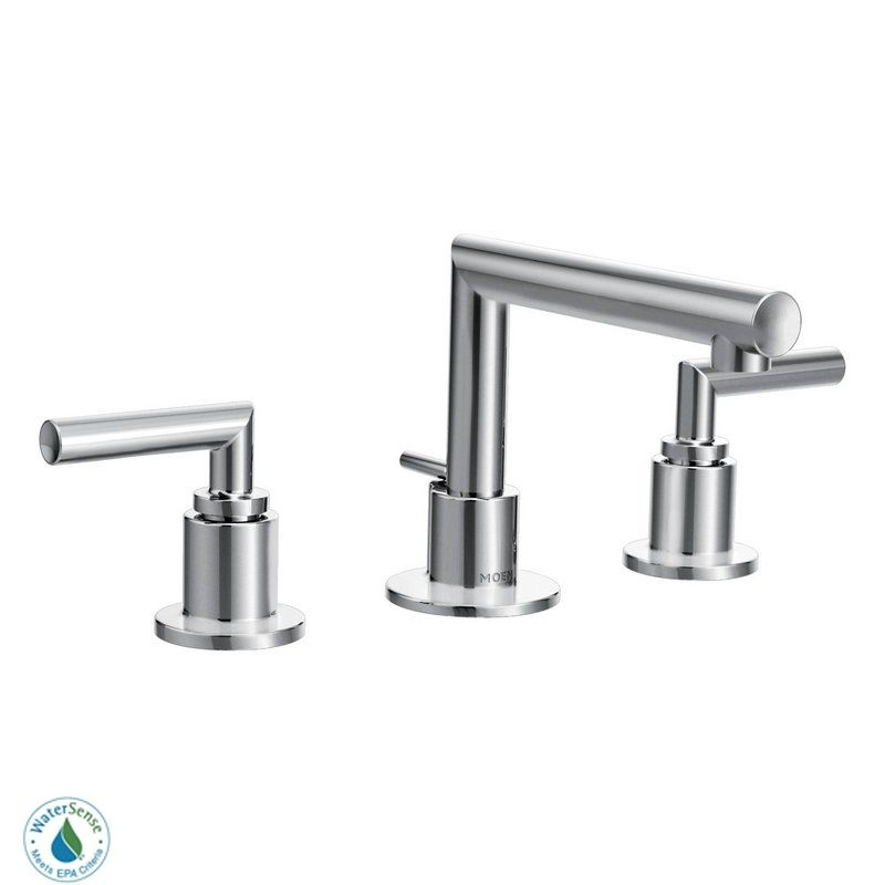 Moen Ts43002 Chrome Double Handle Widespread Bathroom Faucet From The Arris Collection Less