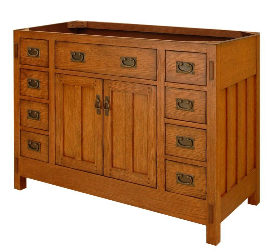Craftsman Kitchen Oak Cabinets: Sagehill Designs AC4821D Rustic Oak American Craftsman 48