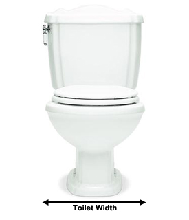 toilet width