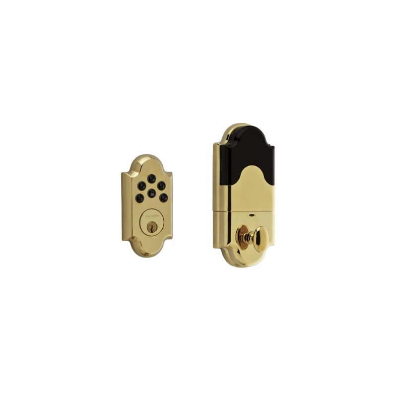 Baldwin 8252003ac1 Lifetime Polished Brass Boulder Keyless