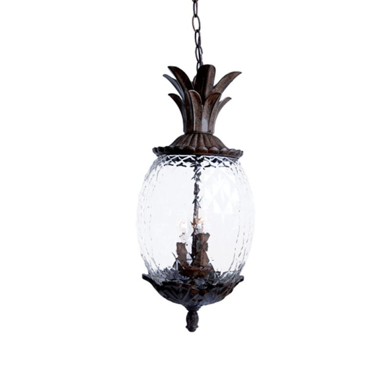 Acclaim lighting 7516bc black coral 3 light 21 height pineapple outdoor pendant from the lanai for Pineapple exterior light fixtures