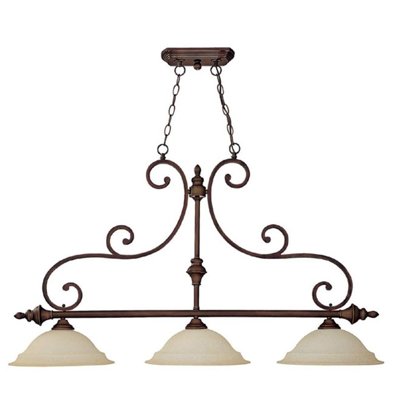 Capital Lighting 3078BB Burnished Bronze Chandler 3 Light