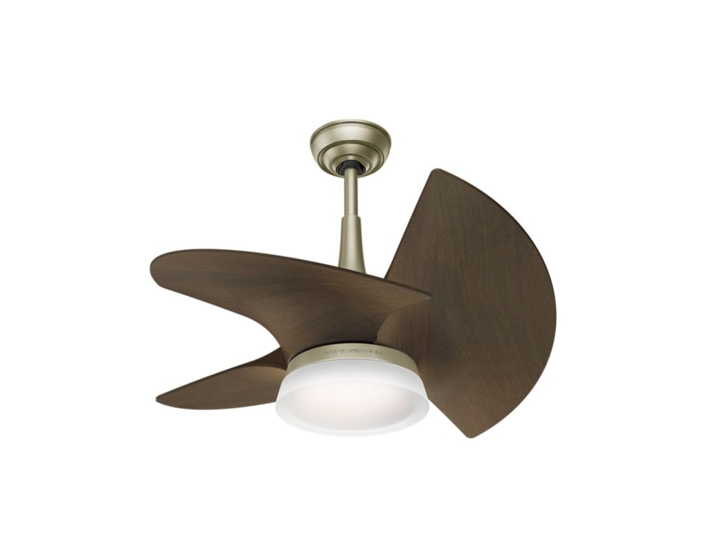 Casablanca 59138 Pewter Revival With Walnut Blades 30 Quot Ceiling Fan 3 Fan Blades And Led Light