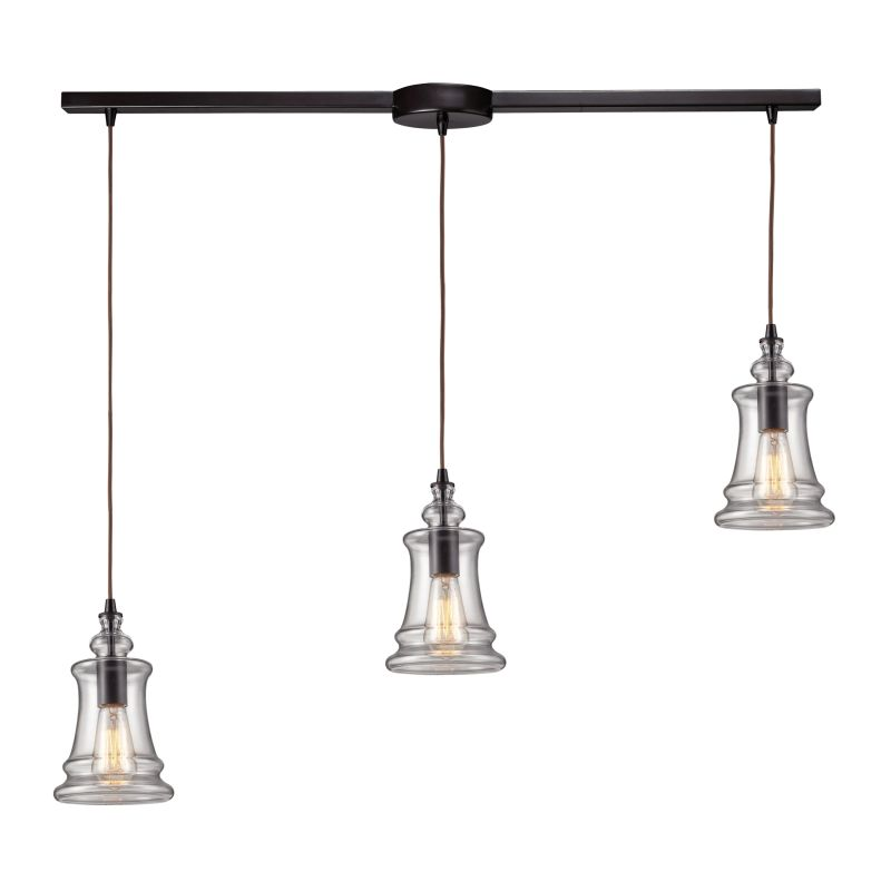 Elk Lighting 60042 3L Oiled Bronze Menlow Park Three Light Kitchen Island Fix