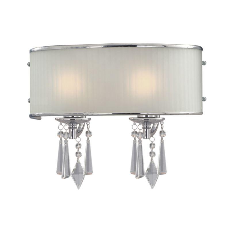 Golden lighting 8981 ba2 bri chrome two light bathroom for Bathroom crystal light fixtures