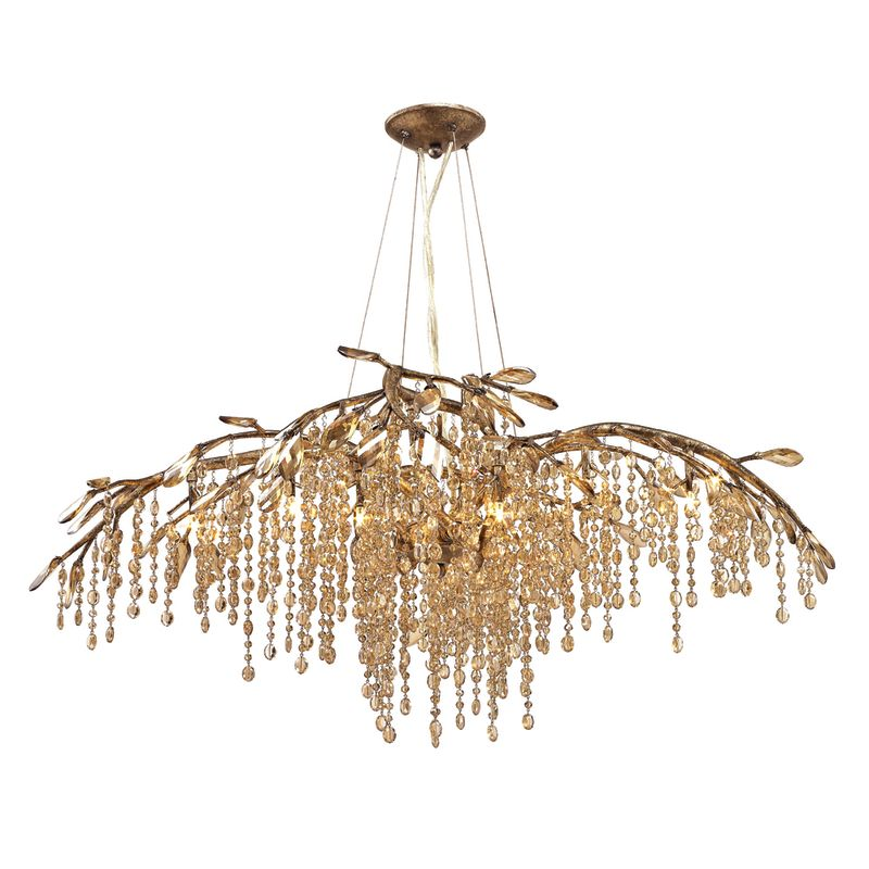 A chandelier (/ ˌ ʃ æ n d ə ˈ l ɪər /; also known as girandole, candelabra lamp, or least commonly suspended lights) is a branched ornamental light fixture designed to be mounted on ceilings or walls. Chandeliers are often ornate, and normally use incandescent light bulbs, though some modern designs also use fluorescent lamps and recently LEDs.