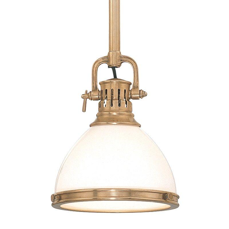Hudson Valley Lighting Mini Pendant: Hudson Valley Lighting 2621-AGB Aged Brass Randolph 1