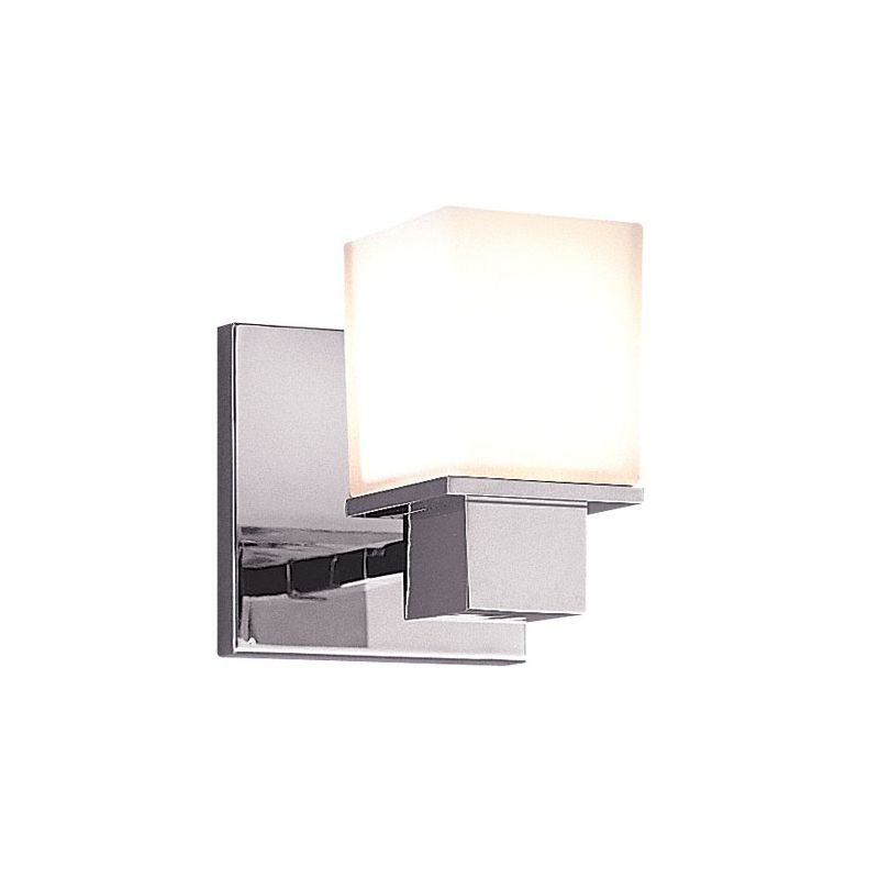 Bathroom Wall Sconces With Switch : Hudson Valley Lighting 4441-PC Polished Chrome Milford 1 Light Bathroom Wall Sconce ...