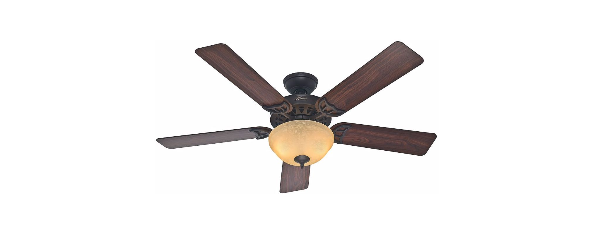 Hunter ceiling fan light kit adapter : Hunter new bronze quot energy star rated indoor