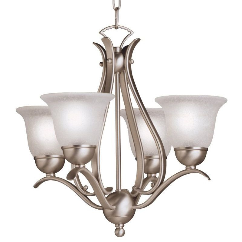 "Kichner Lighting: Kichler 2019NI Brushed Nickel Dover 4 Light 18"" Wide"