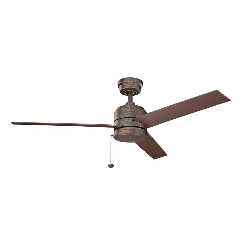 Copper Ceiling Fan With Light