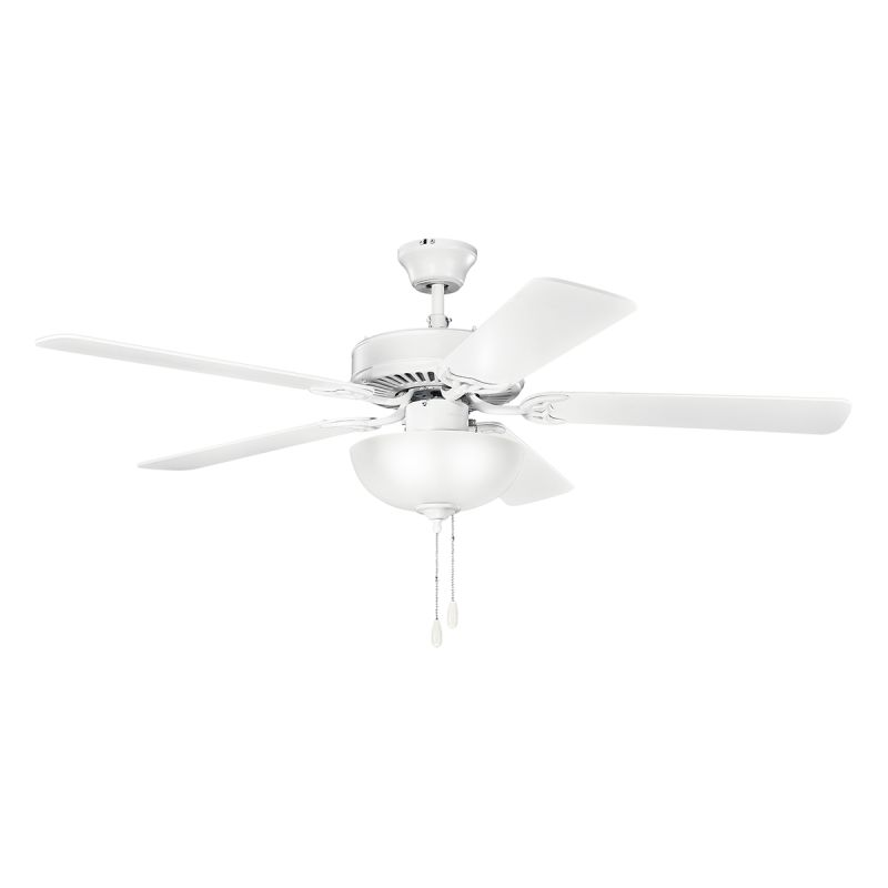 Kichler 403mwh Matte White 52 Quot Indoor Ceiling Fan With