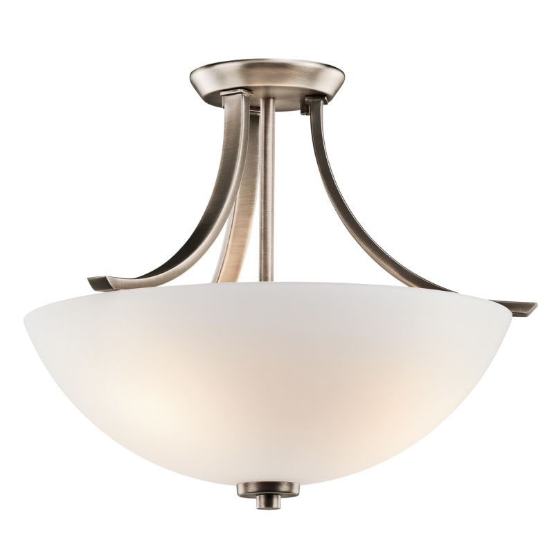 Kichler 42563BPT Brushed Pewter Granby 3 Light Semi Flush
