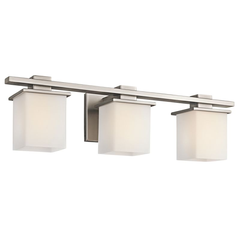 How High To Set Vanity Lights : Kichler 45151AP Antique Pewter Tully 3 Light 24