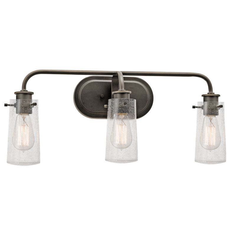 light 24 wide vanity light bathroom fixture with seedy glass shades