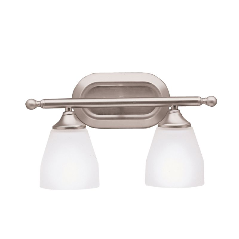 kichler bathroom lighting fixtures kichler 5447ni brushed nickel ansonia 14 75 quot wide 2 bulb 18959