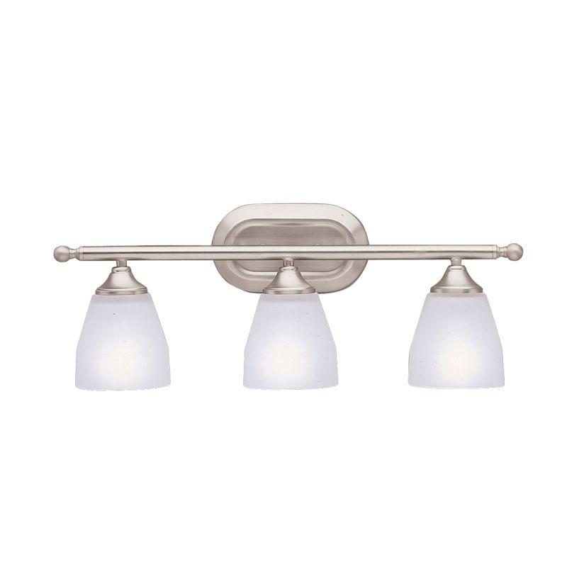 Vanity Light Fixture No Junction Box : Kichler 5448NI Brushed Nickel Ansonia 3 Light 23