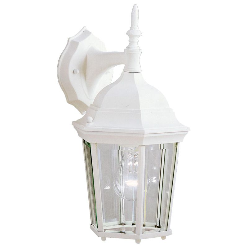 Tall Glass Wall Sconces : Kichler 9650WH White Madison Single Light 15