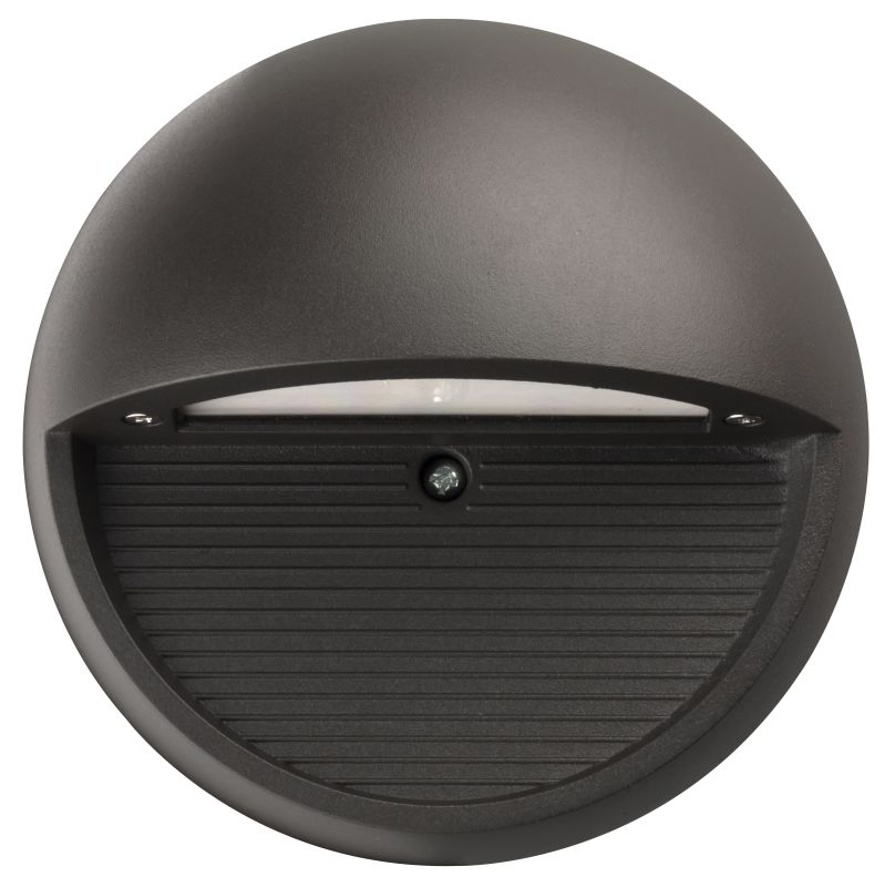 Lithonia lighting olsr ddb m6 bronze outdoor led step light round for Round exterior lights