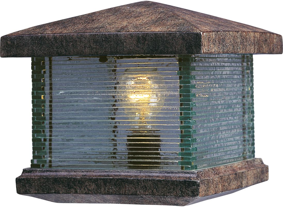 Maxim 48736clet Earth Tone Single Light Up Lighting Deck