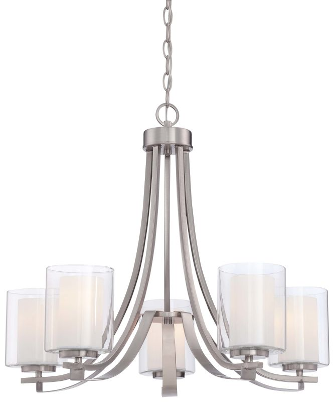 Minka Lavery 4105 84 Brushed Nickel 5 Light Single Tier