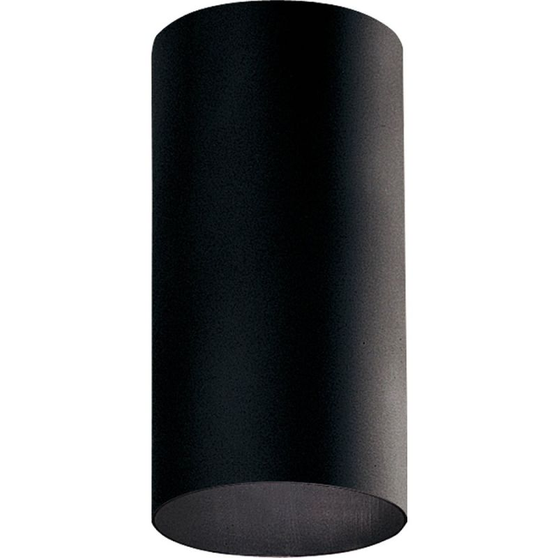 Progress Lighting P5741 31 Black Cylinder 1 Light Flush