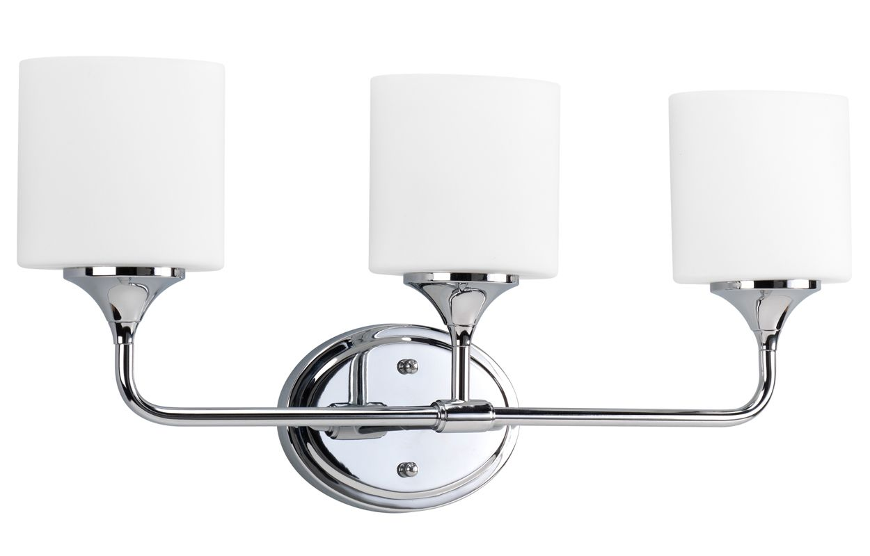 Progress Lighting Lucky Collection 4 Light Brushed Nickel: Progress Lighting P2803-15 Polished Chrome Lynzie 3 Light