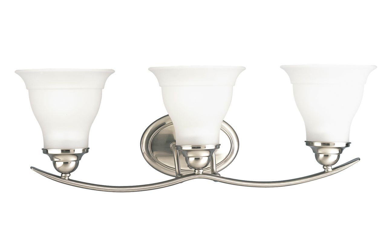 Progress Lighting Rizu Collection 3 Light Brushed Nickel: Progress Lighting P3192-09 Brushed Nickel Trinity 3 Light