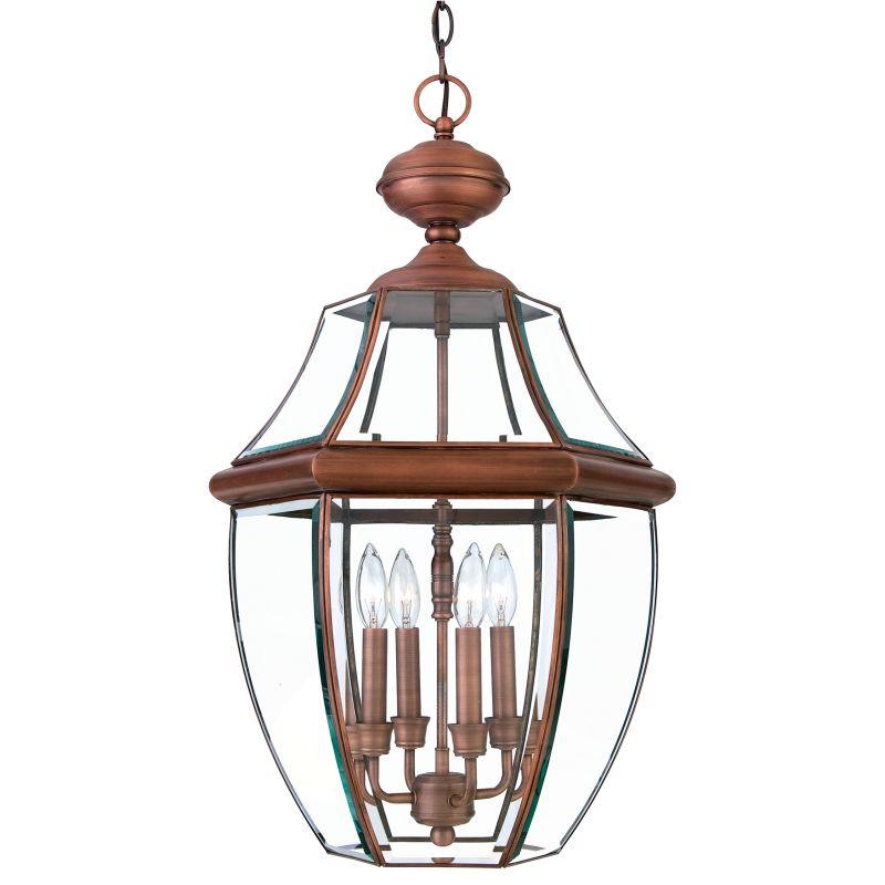 "Quoizel Outdoor Lighting Newbury: Quoizel NY1180AC Aged Copper Newbury 4 Light 16"" Wide"