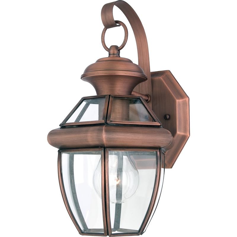 "Quoizel NY8315AC Aged Copper Newbury 1 Light 13"" Tall"