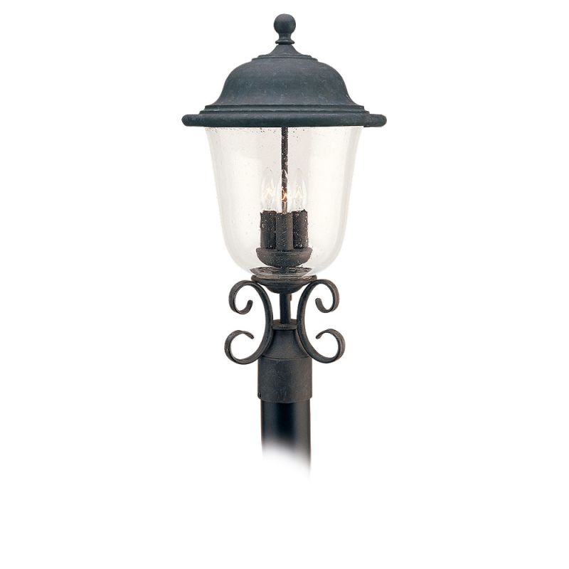 Bell Outdoor Post Lights: Sea Gull Lighting 8259-46 Oxidized Bronze Trafalgar 3