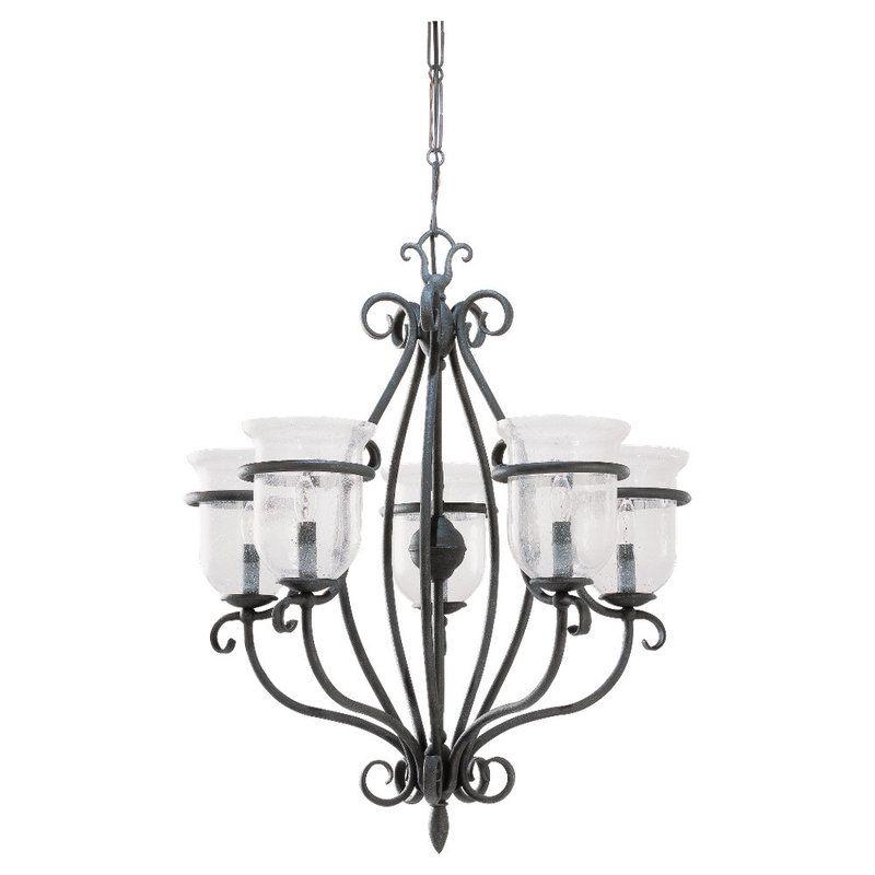 sea gull lighting 3401 07 weathered iron manor house 5 light single. Black Bedroom Furniture Sets. Home Design Ideas