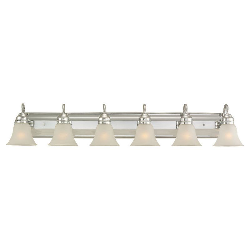 Bathroom Vanity Light Has No Junction Box : Sea Gull Lighting 44855-05 Chrome Gladstone 6 Light Bathroom Vanity Light - LightingDirect.com