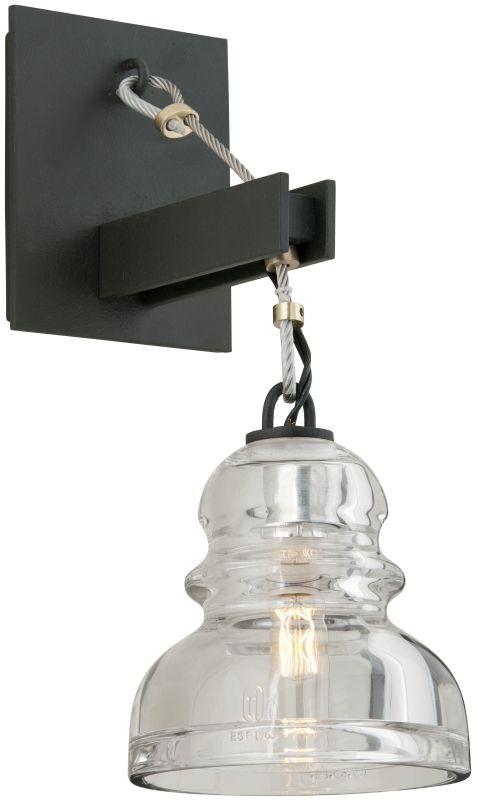 troy lighting b3971 deep bronze menlo park 1 light wall sconce with. Black Bedroom Furniture Sets. Home Design Ideas