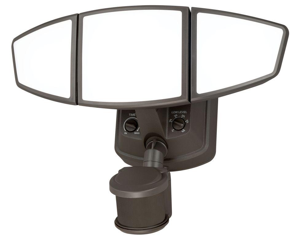 Vaxcel Lighting T0103 Bronze Omega Smart Lighting LED Outdoor Dual Head Floo