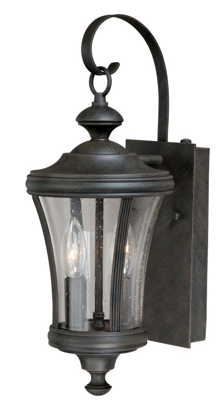 Vaxcel Lighting T0146 Rust Iron Hanover 2 Light Outdoor Wall Sconce with Photocell Included - 5 ...