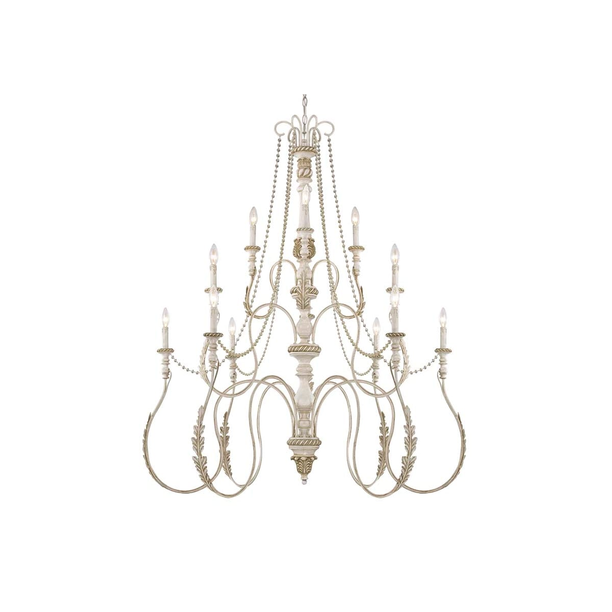 Jeremiah Lighting 27312 Atl Antique Linen Zoe Three Tier 12