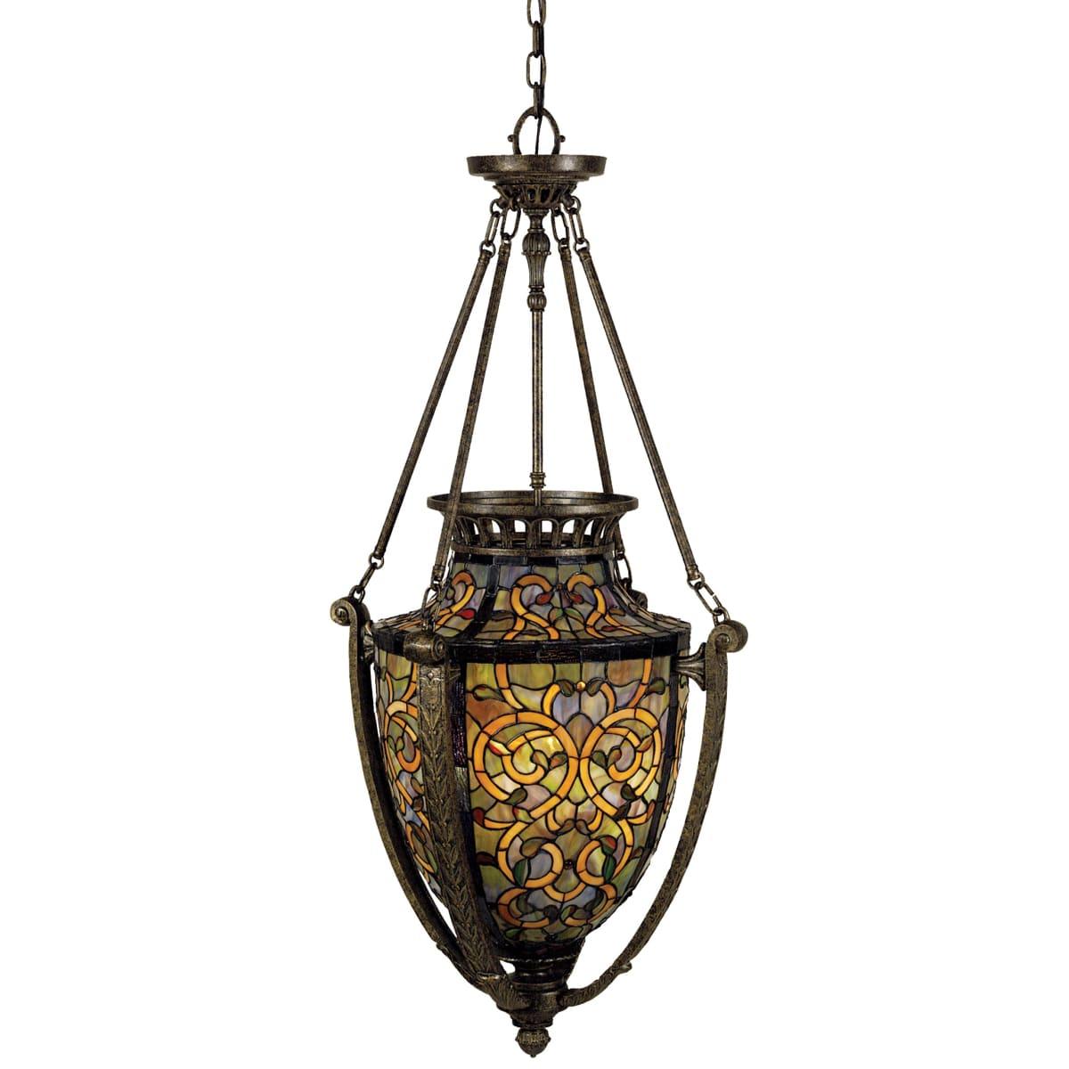 meet 6f1c9 ef2e4 Quoizel TF1721ML Malaga Tiffany 4 Light Urn Pendant with ...